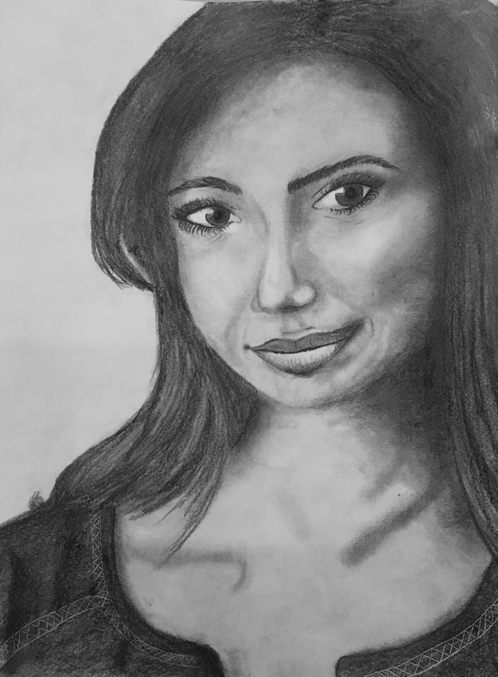 Graphite Pencil drawing by Tessa, 19 year old.