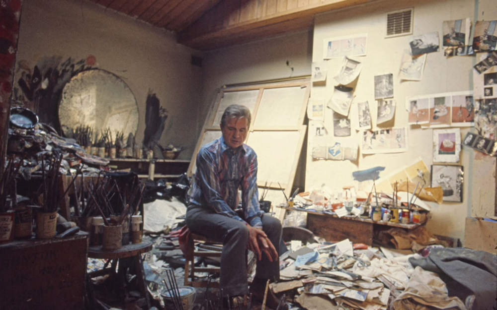 Artist Francis Bacon in his studio. Which was also his home. (photo credit: Telegragh, May 2016)