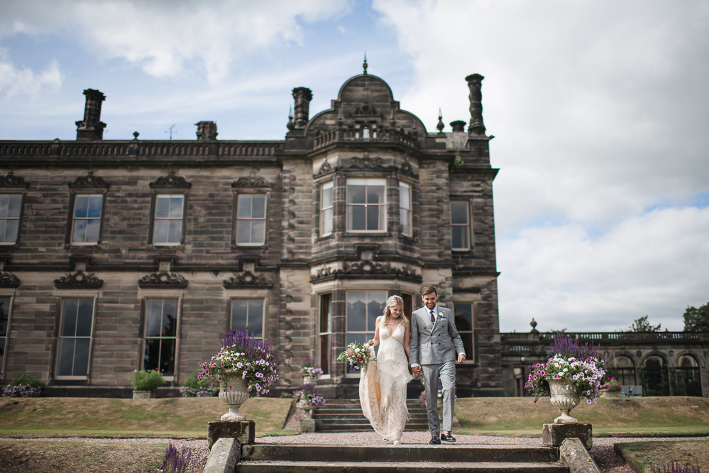 Jo & Chris  Laid-back woodstock-inspired  Sandon Hall & tipi wedding.