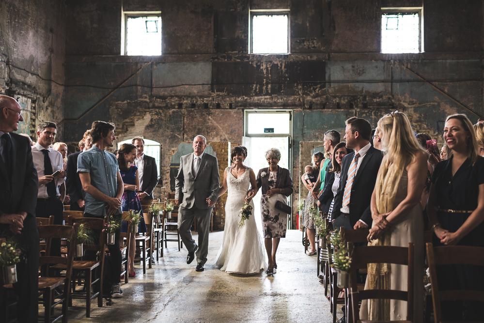 Catherine & John  The  Asylum Chapel  &  Brunel Museum , An Informal 'Distressed Vintage' London Wedding