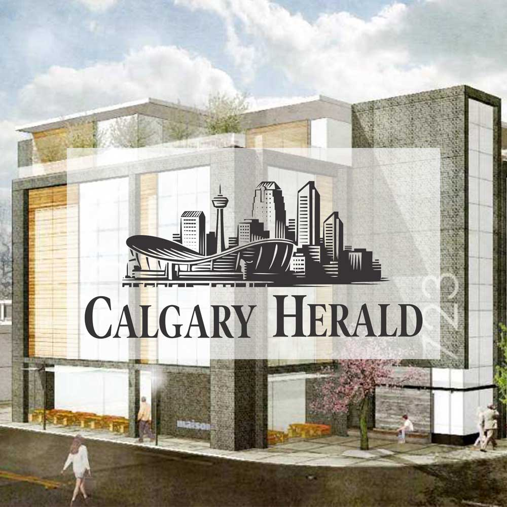 Calgary Herald July 2015.  Arlington Street has big designs for 17th Avenue.  McKinley Burkart Architects.