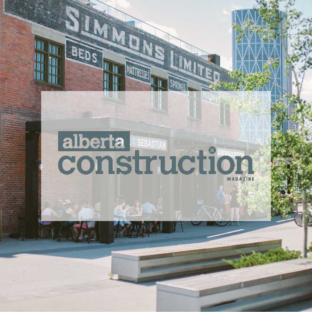 December 2015. Alberta Construction Magazine. Top projects 2015: Simmons Building.  CMLC engaged architectural firm McKinley Burkart, Stuart Olson Dominion Construction and the City of Calgary's historic experts to preserve and restore the Simmons Building, making it attractive to Calgarians while still retaining its historical character.   Architecture and interior design by McKinley Burkart.