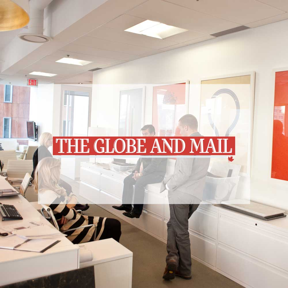 Globe and Mail. Inspiration meets aspiration in this luxurious office. March 2012.