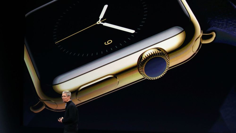 Apple CEO Tim Cook revealed more details about the Apple Watch at an event in San Francisco yesterday. Credit: LA Times
