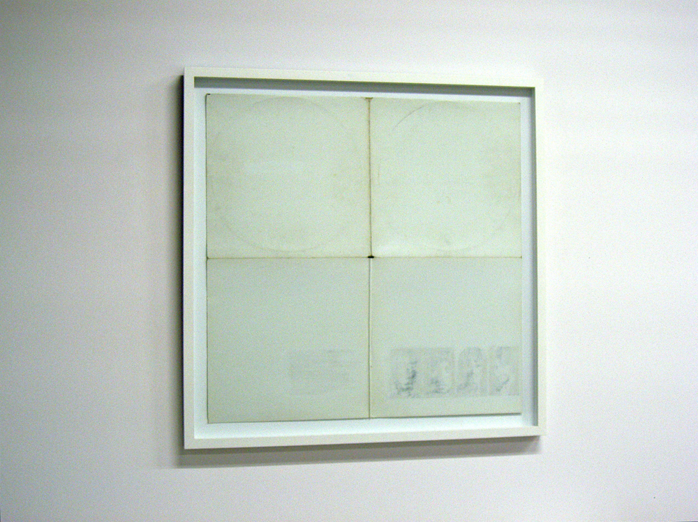 Erased White Album, 2007 A conflation of the pop artists Richard Hamilton and Robert Rauschenberg.