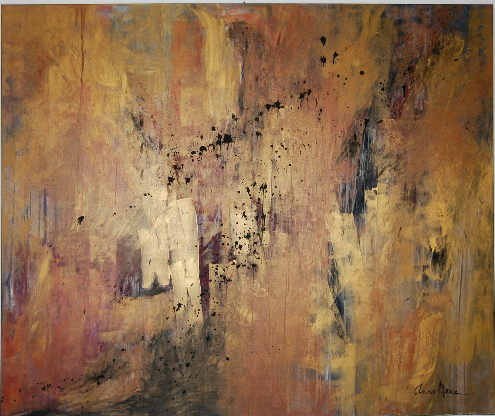 """Gold painting, 2009  oil & acrylic on canvas, 60"""" x 72"""""""