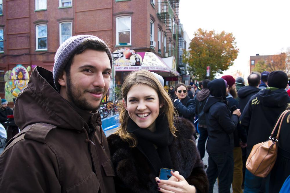 Kristina & Guillaume, NYC marathon 2014