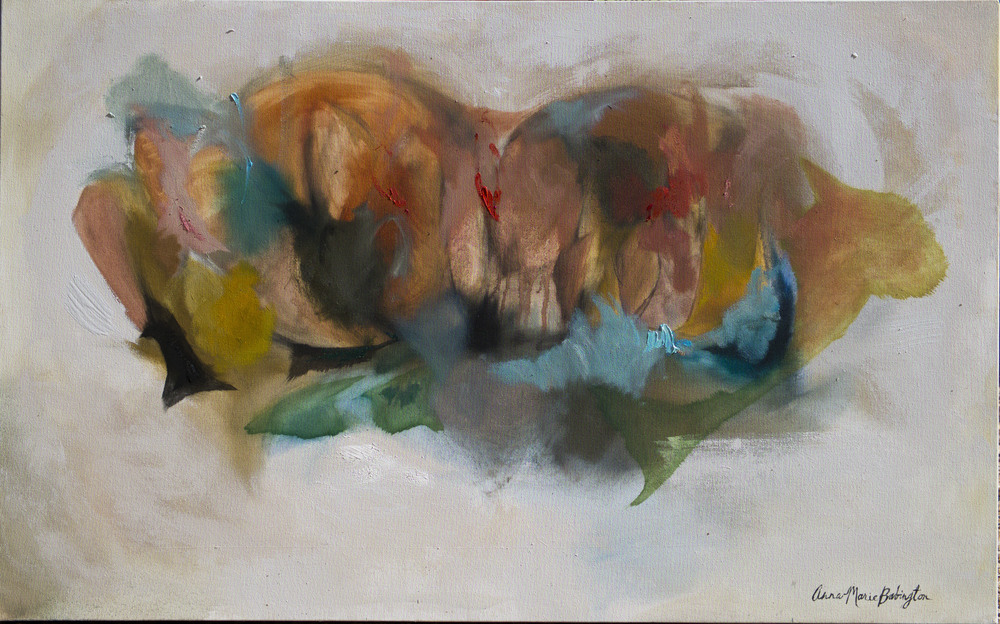 "Shape series (Symphony), 2014  30"" x 48"", oil on canvas"