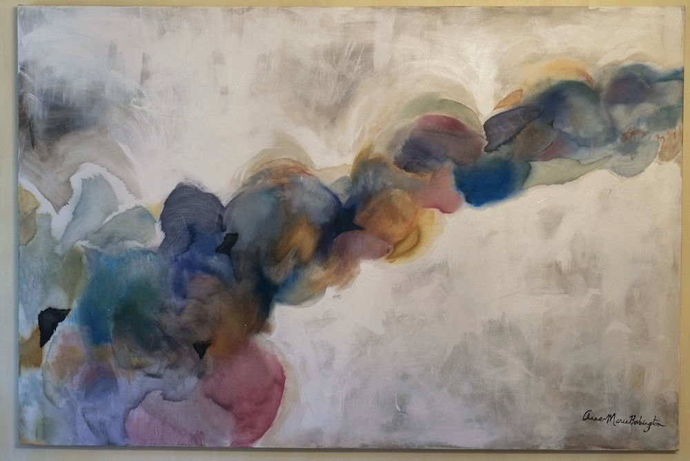 "Billowing Beauty , 2014  oil & acrylic on canvas, 48"" x 72"""