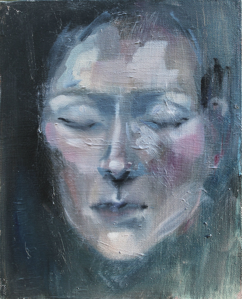 "Still Mind I  oil on canvas, 10""x8"""