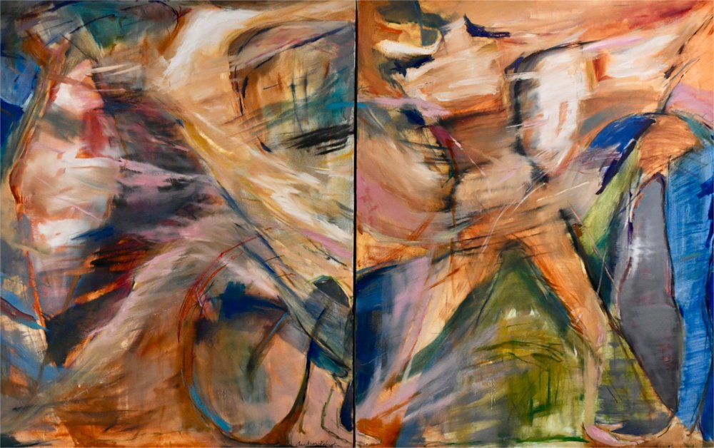 "The Call of Kairos, I & II  48""x60"" (each)  oil on canvas"