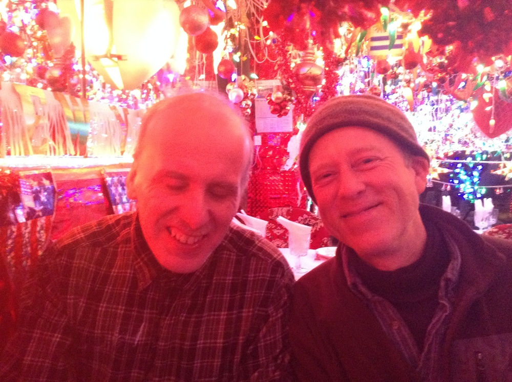 Mark with Brian Merrill at an Indian Restaurant on 1st Ave