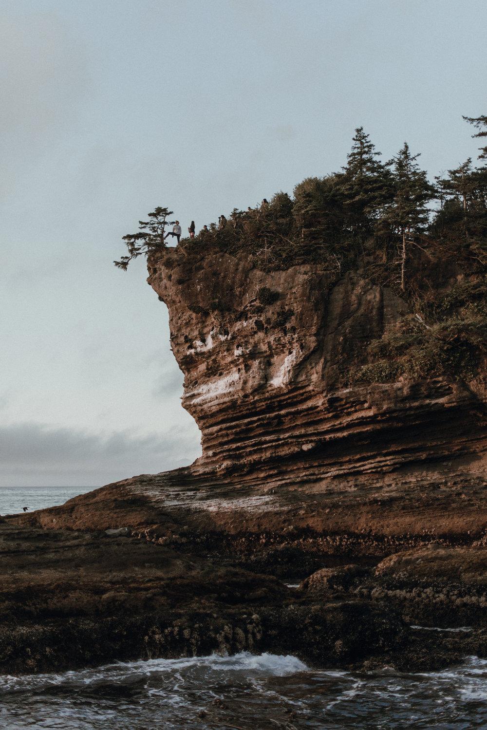 Washington state rocky coast at Cape flattery.