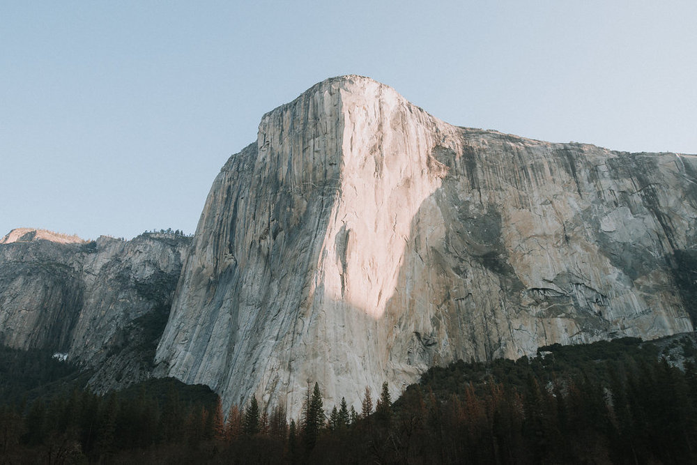 El Capitan at Sunrise in Yosemite Valley in the spring..
