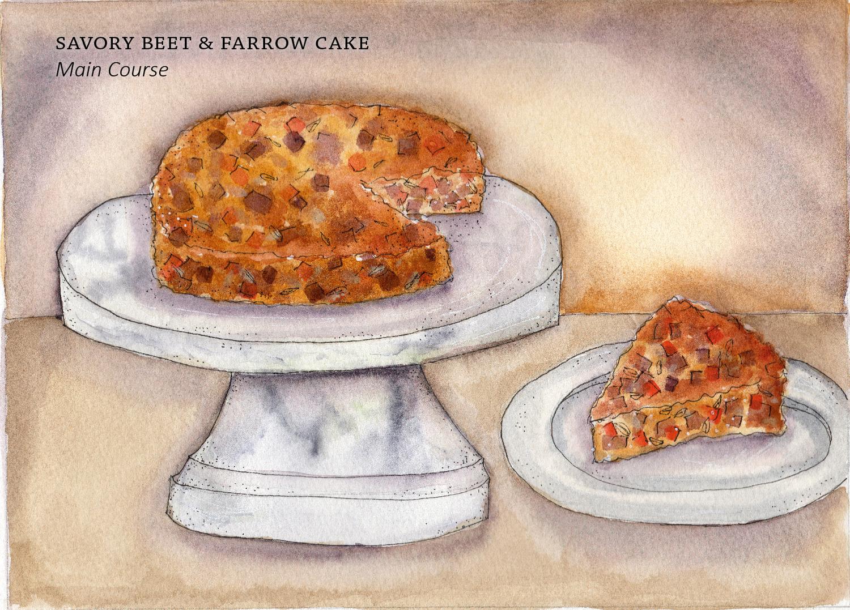 Savory Beet Farrow Cake Marc J Sievers