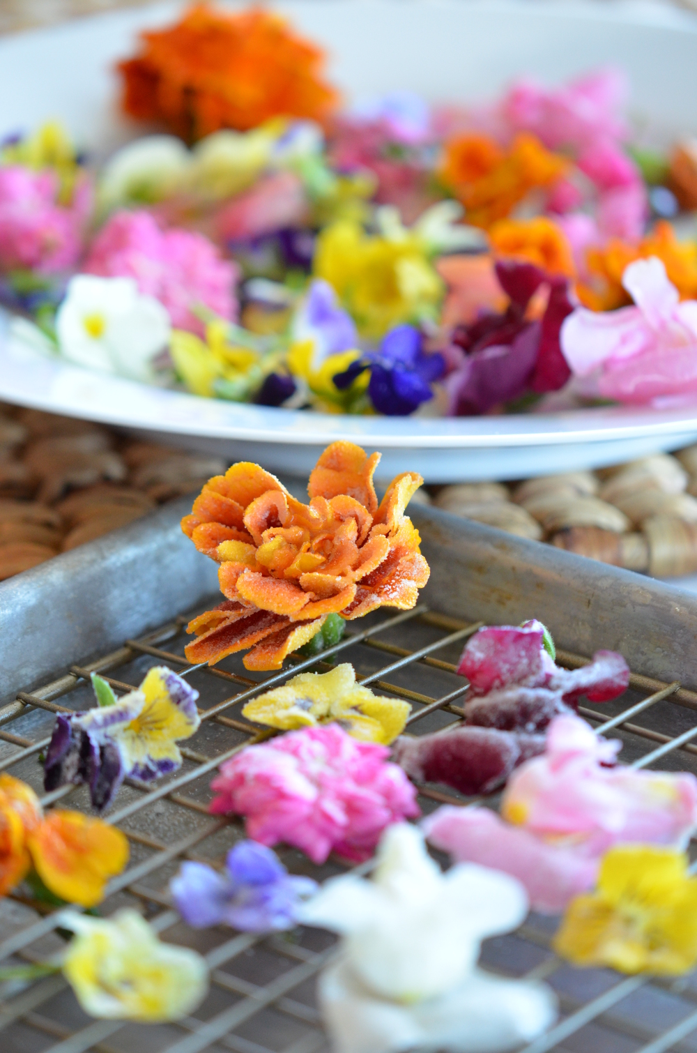 Edible Candied Flowers from  my cookbook    Entertaining with Love  !