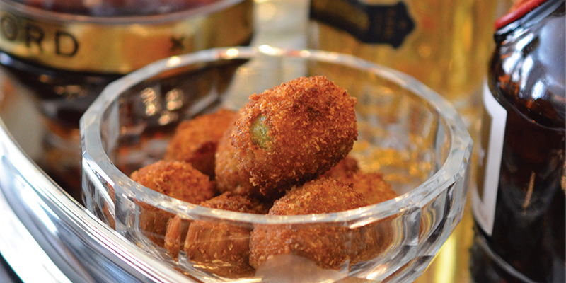 p101 | Fried Blue Cheese Olives