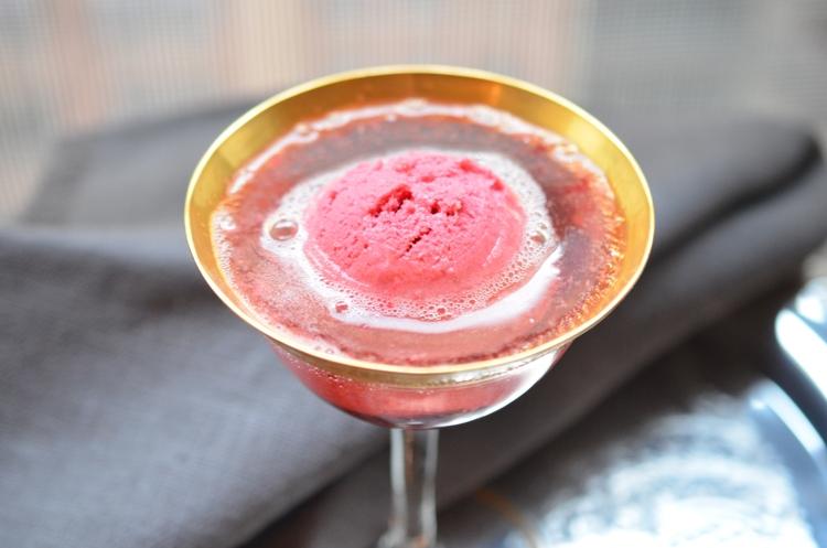 Sparkling Raspberry Sorbet