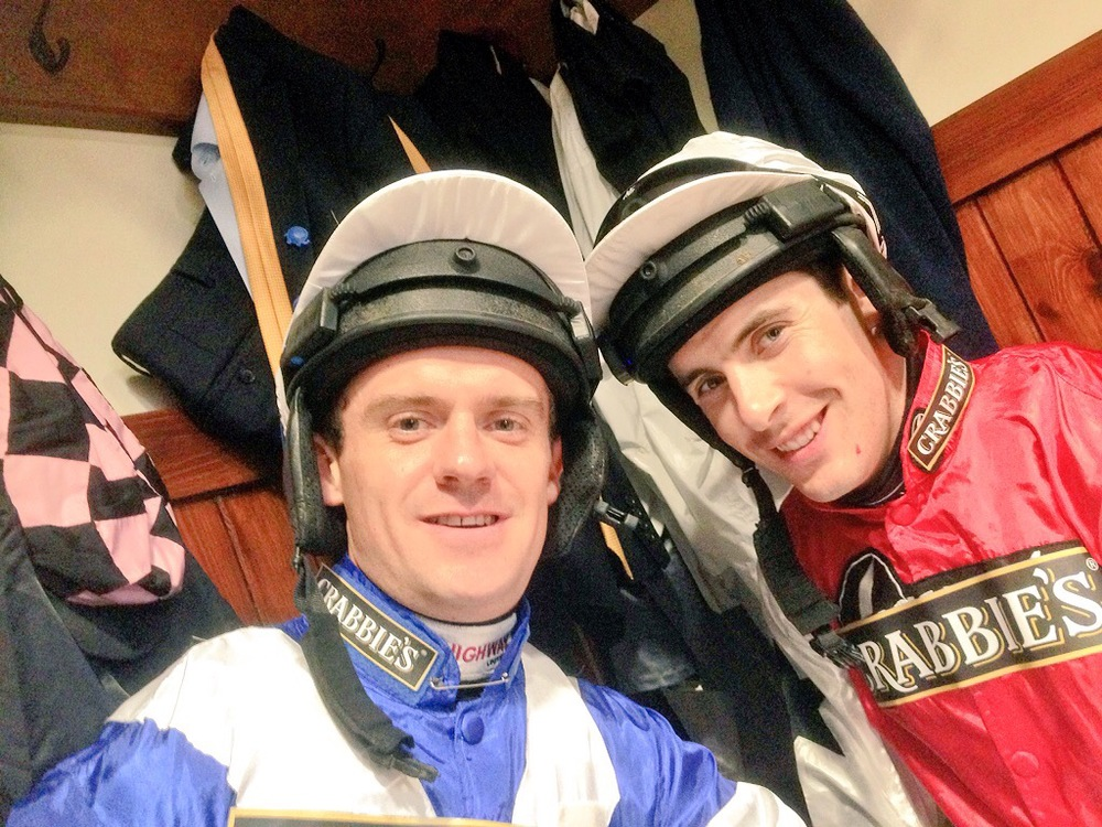 JockeyCamera men Will Kennedy and Aidan Coleman ready for the Topham.