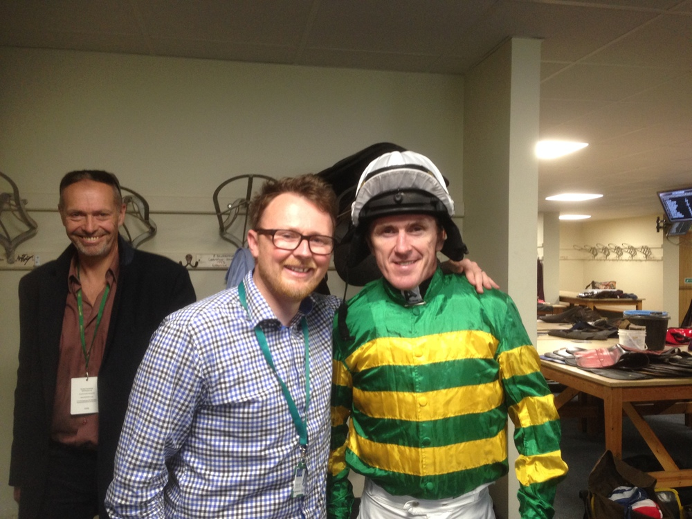AP McCoy wearing the JockeyCam for his last ride at Cheltenham.