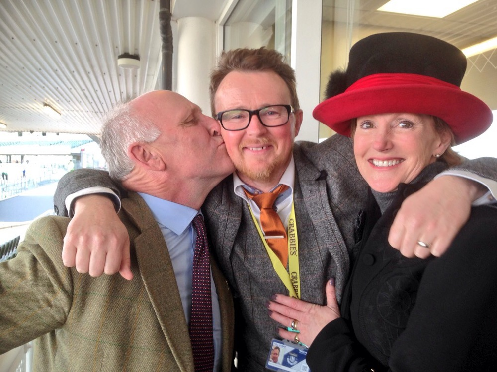 Oliver, Tarnya and I celebrating Cloudy's win. What a day.