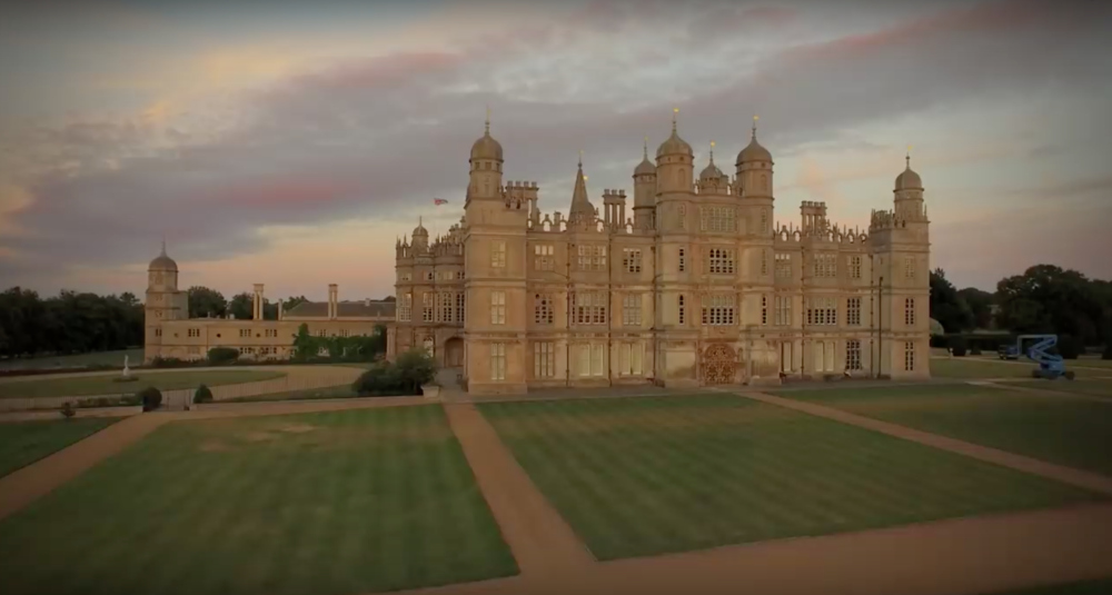 Burghley House - a shot taken from our aerial filming day