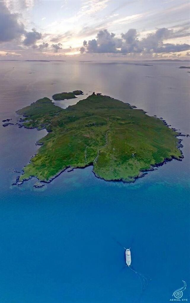 Taken from aerial footage of the island