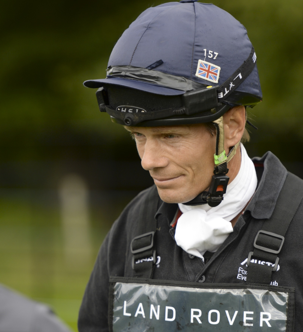 William Fox-Pitt wearing the RiderCam