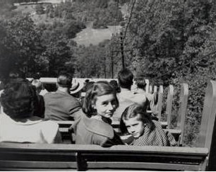 Young passengers enjoying the Incline on a crisp day in 1946.    Courtesy Beacon Historic Society