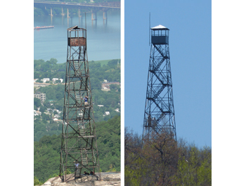 Before & After - the Mt. Beacon Fire Tower