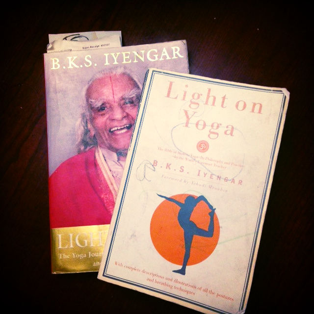 Well worn Iyengar texts