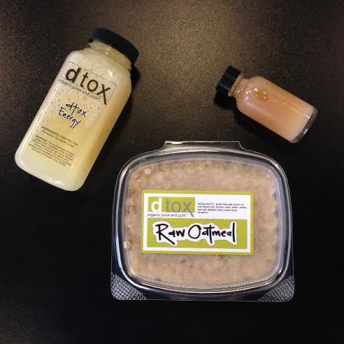 Organic, Gluten Free, Dairy Free, Raw Oatmeal; Dtox Energy; Aloe Elixir
