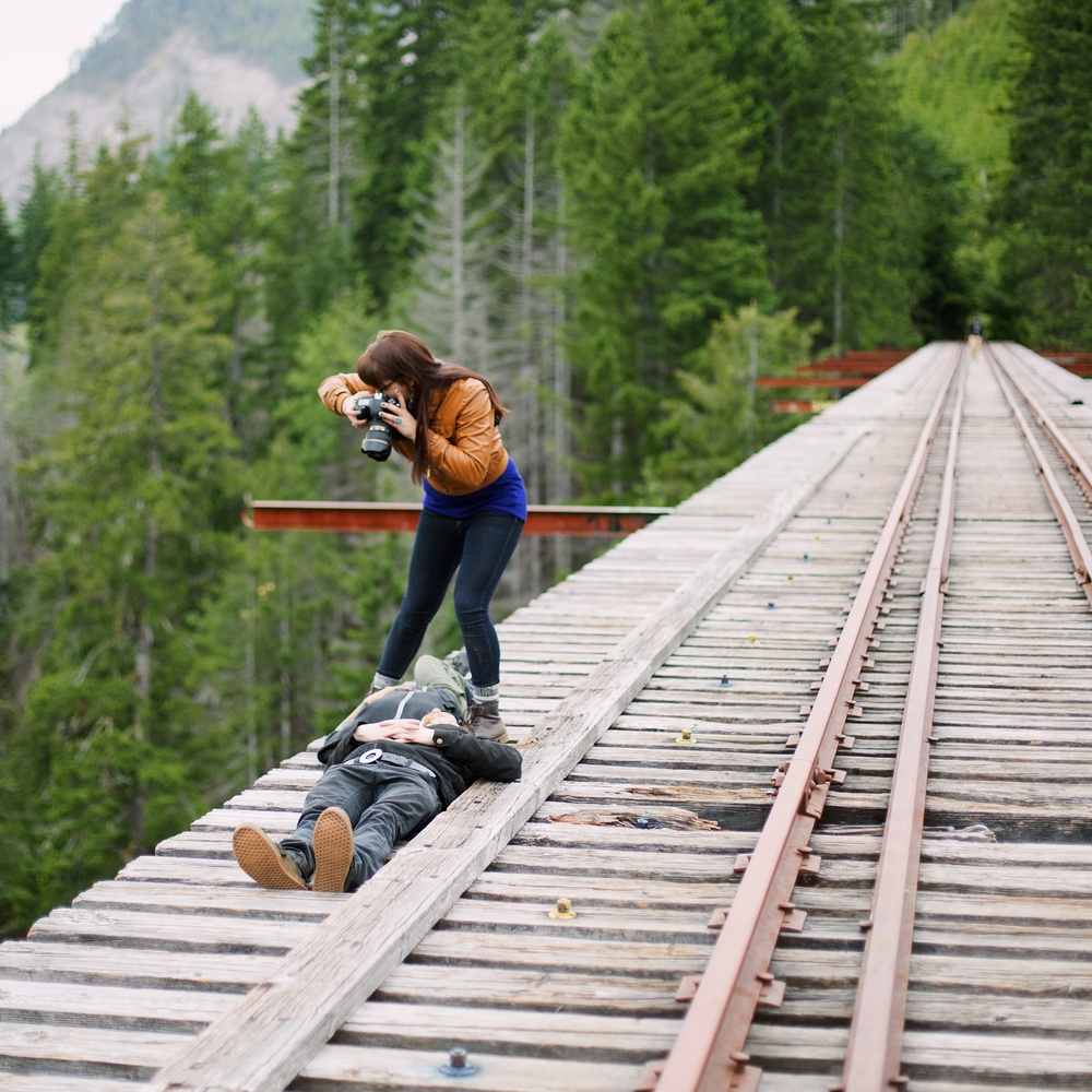 350ft up, Vance Creek Bridge, WA