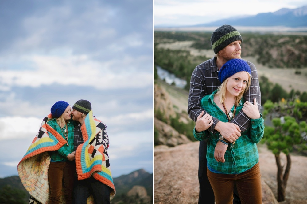 Hiking with a blanket // Adventure photo shoot by Maddie Mae Photography