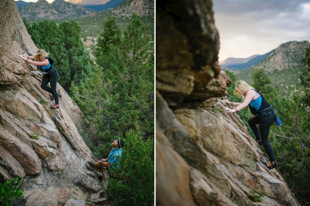 Adorable rock climbing engagement photoshoot // Maddie Mae Photography