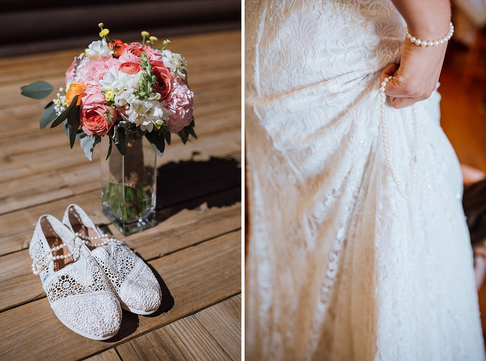 Pearls would look so beautiful with my white lace TOMS and wedding dress! Photo by Maddie Mae Photography
