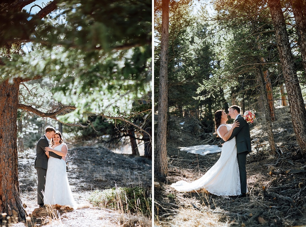 I would love to have my wedding somewhere near the Rocky Mountains.. maybe Estes Park? I love these wedding photos - So adventurous and fun! Photo by Maddie Mae Photography
