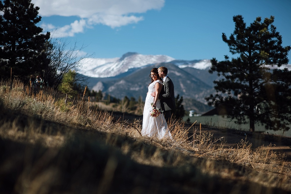 Mary's Lake Lodge up in Estes Park, Colorado is the perfect location for an adventurous mountain wedding! Photo by Maddie Mae Photography