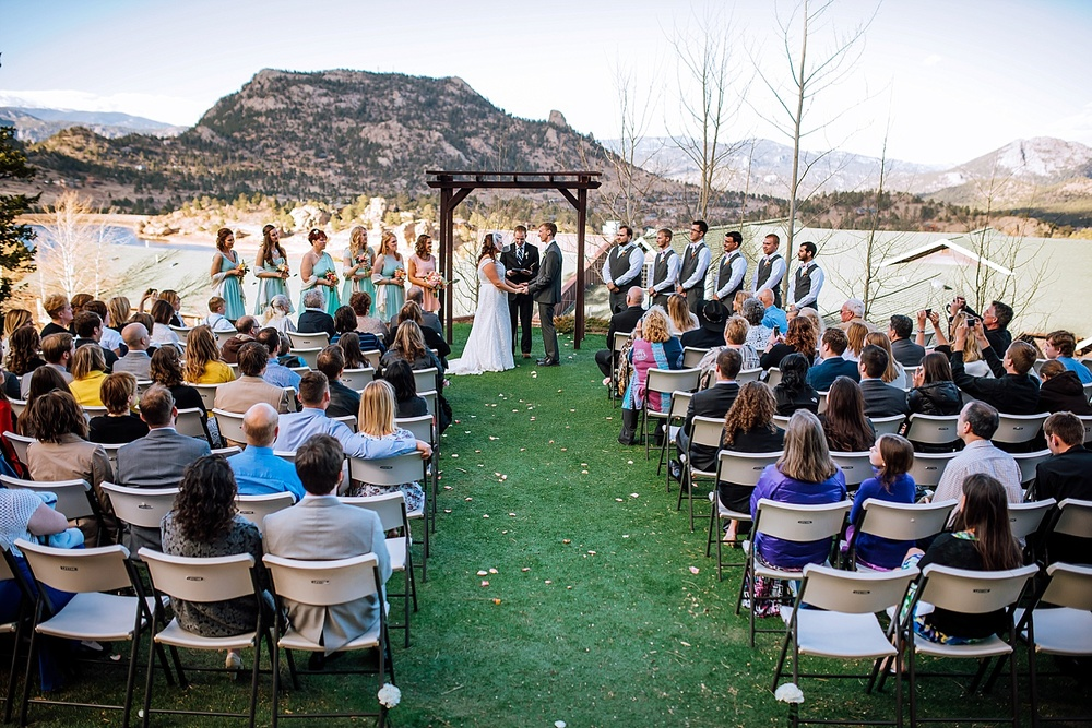 That's it. I'm having my wedding up in Estes Park, Colorado. Having the Rocky Mountains as the backdrop to the ceremony is amazing. Photo by Maddie Mae Photography