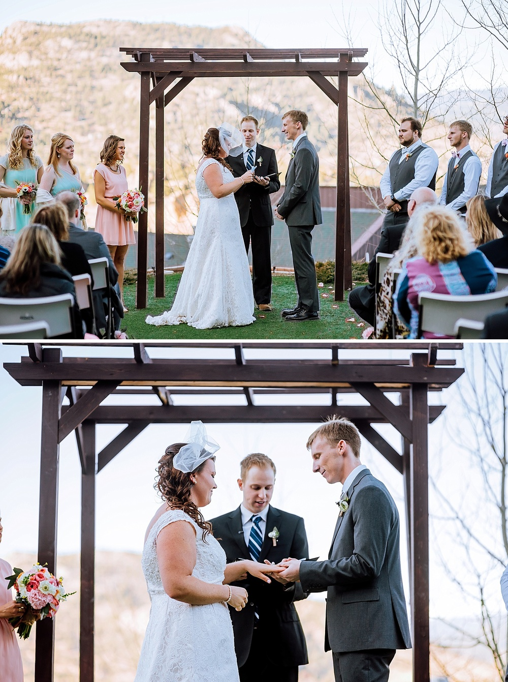 I want my wedding ceremony up in Estes Park somewhere. I love the mountains and they are such a beautiful backdrop! Photo by Maddie Mae Photography