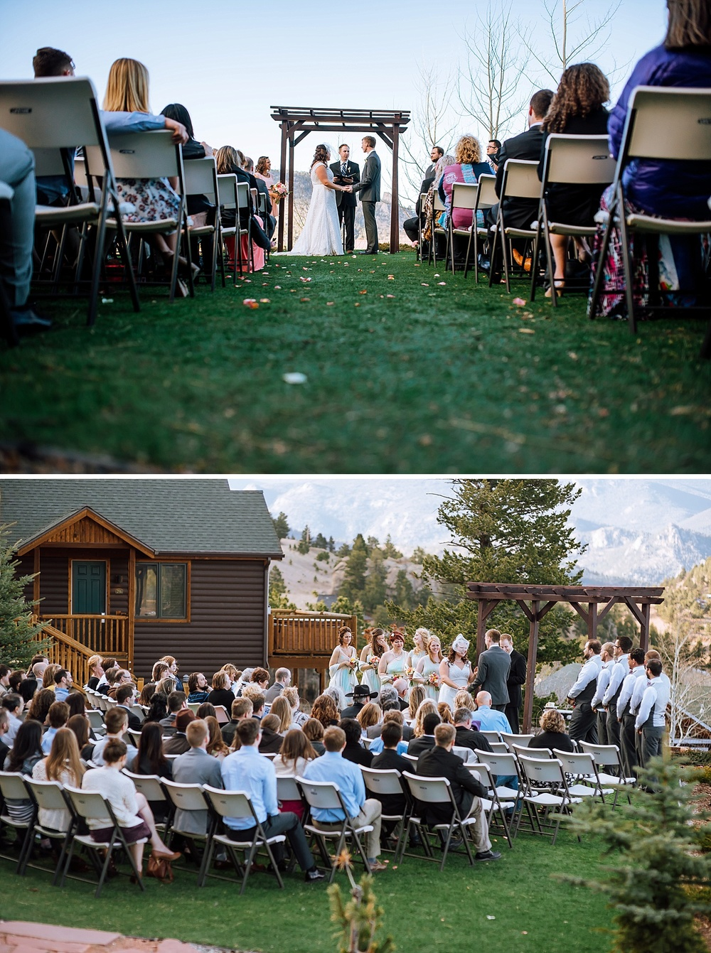 Mary's Lake Lodge is the PERFECT venue for a mountain wedding! I love this! Colorado is so beautiful. Photo by Maddie Mae Photography