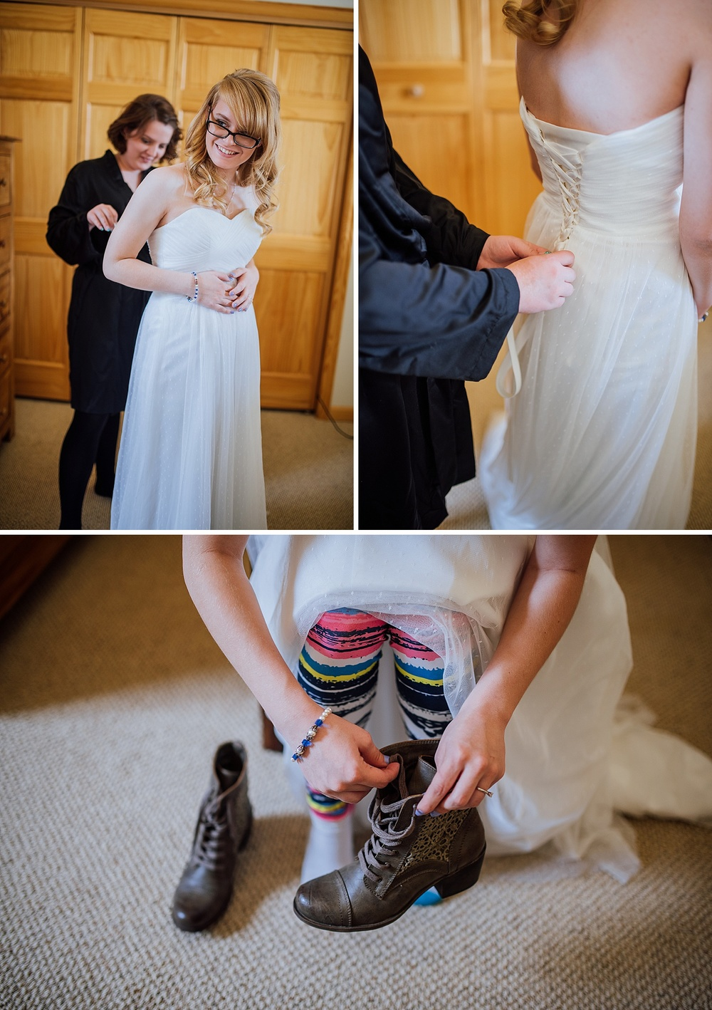 That's such a good idea! I want to wear my leggings underneath my wedding dress.. I also love her boots. It would be so much more comfortable! Photo by Maddie Mae Photography