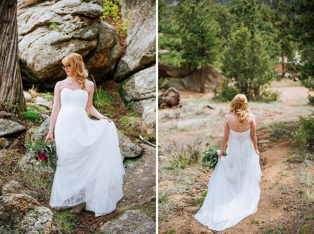 I would love to have my bridal shots taken in Rocky Mountain National Park. Mountain weddings are the best! Photo by Maddie Mae Photography