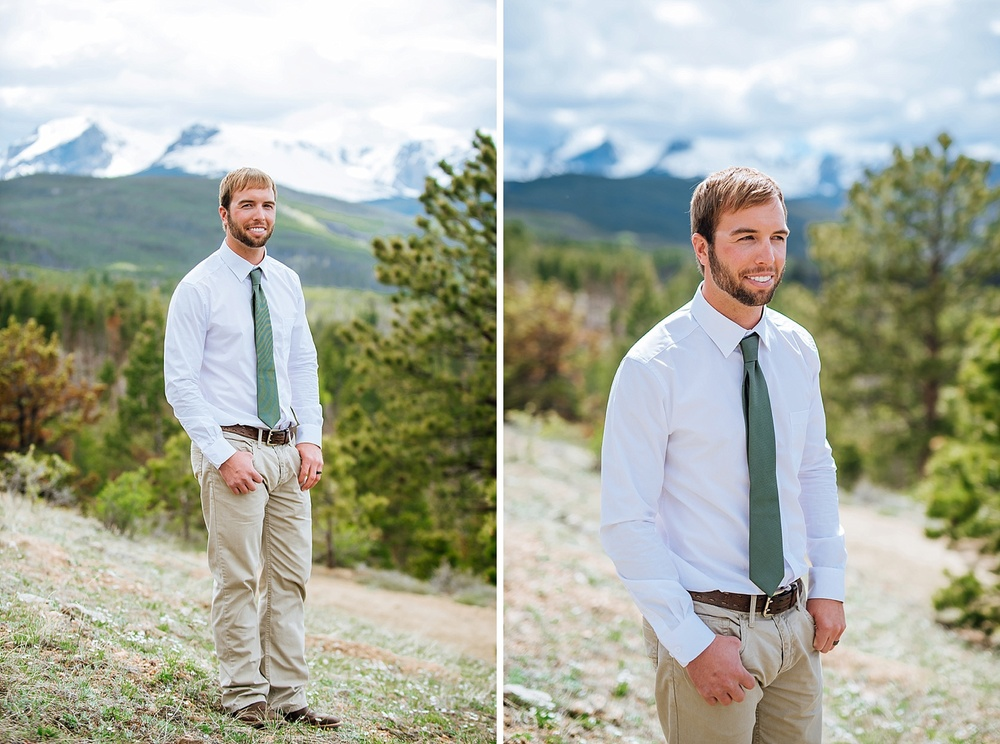 Estes Park is an amazing place for a wedding! I love mountain weddings! Photo by Maddie Mae Photography