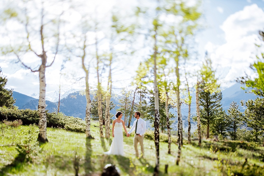 The aspen trees are beautiful - Estes Park in Colorado is a beautiful place for a wedding! Photo by Maddie Mae Photography