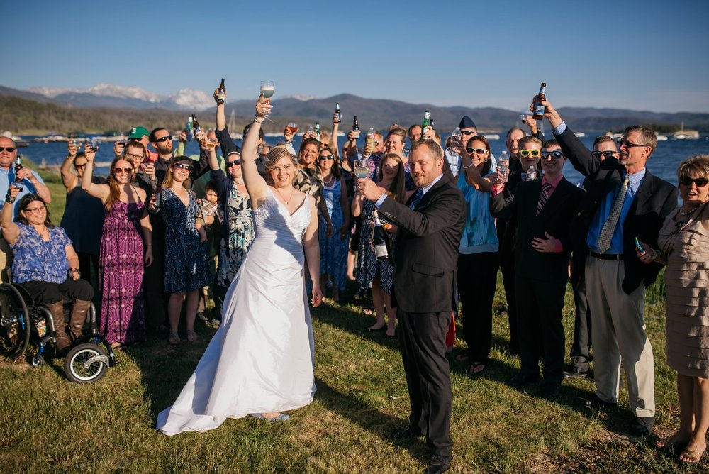Intimate mountain wedding ceremonies are so fun! Photo by Maddie Mae Photography