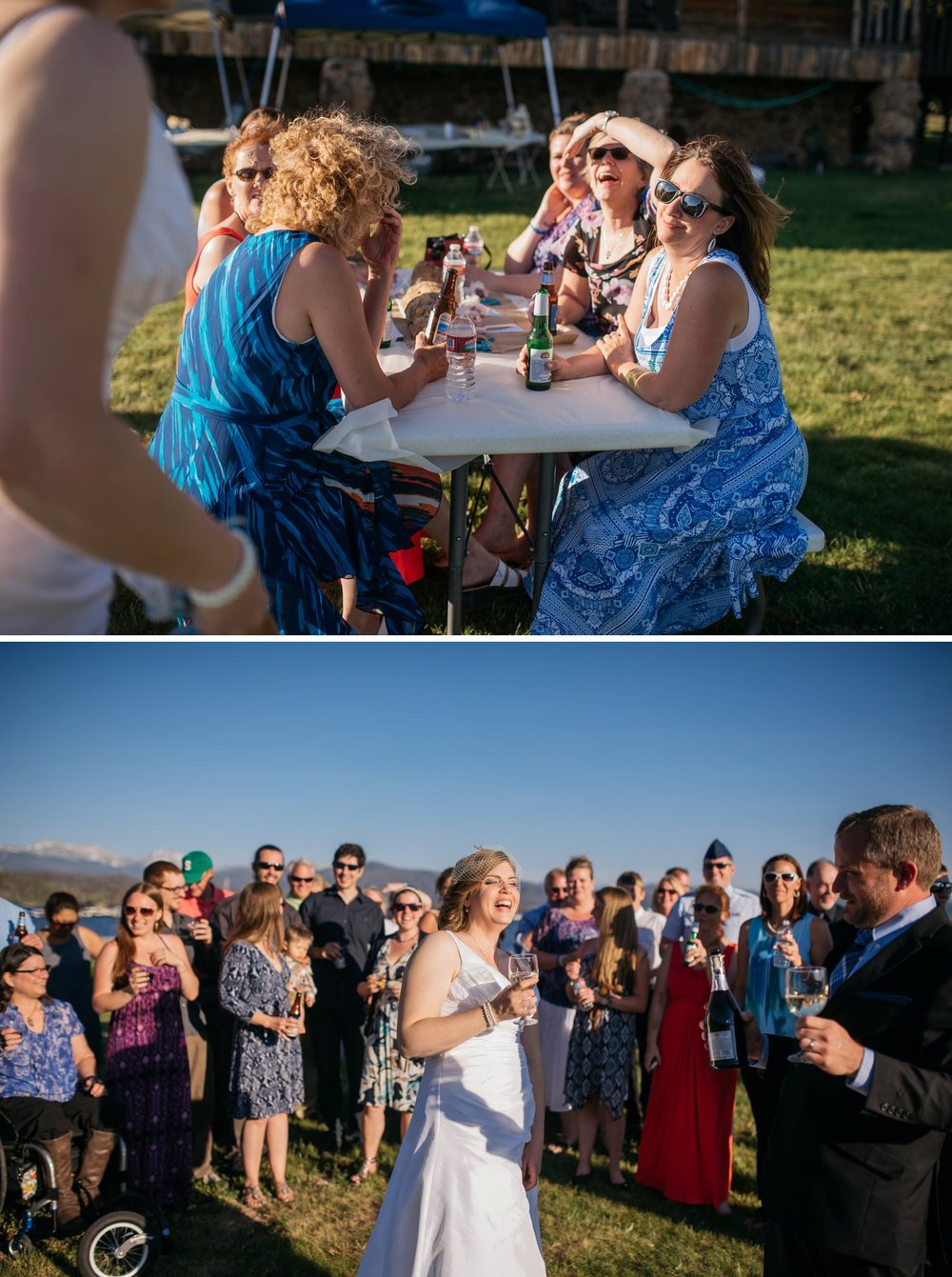 I love small and casual wedding ceremonies! They make weddings feel more comfortable. Photo by Maddie Mae Photography