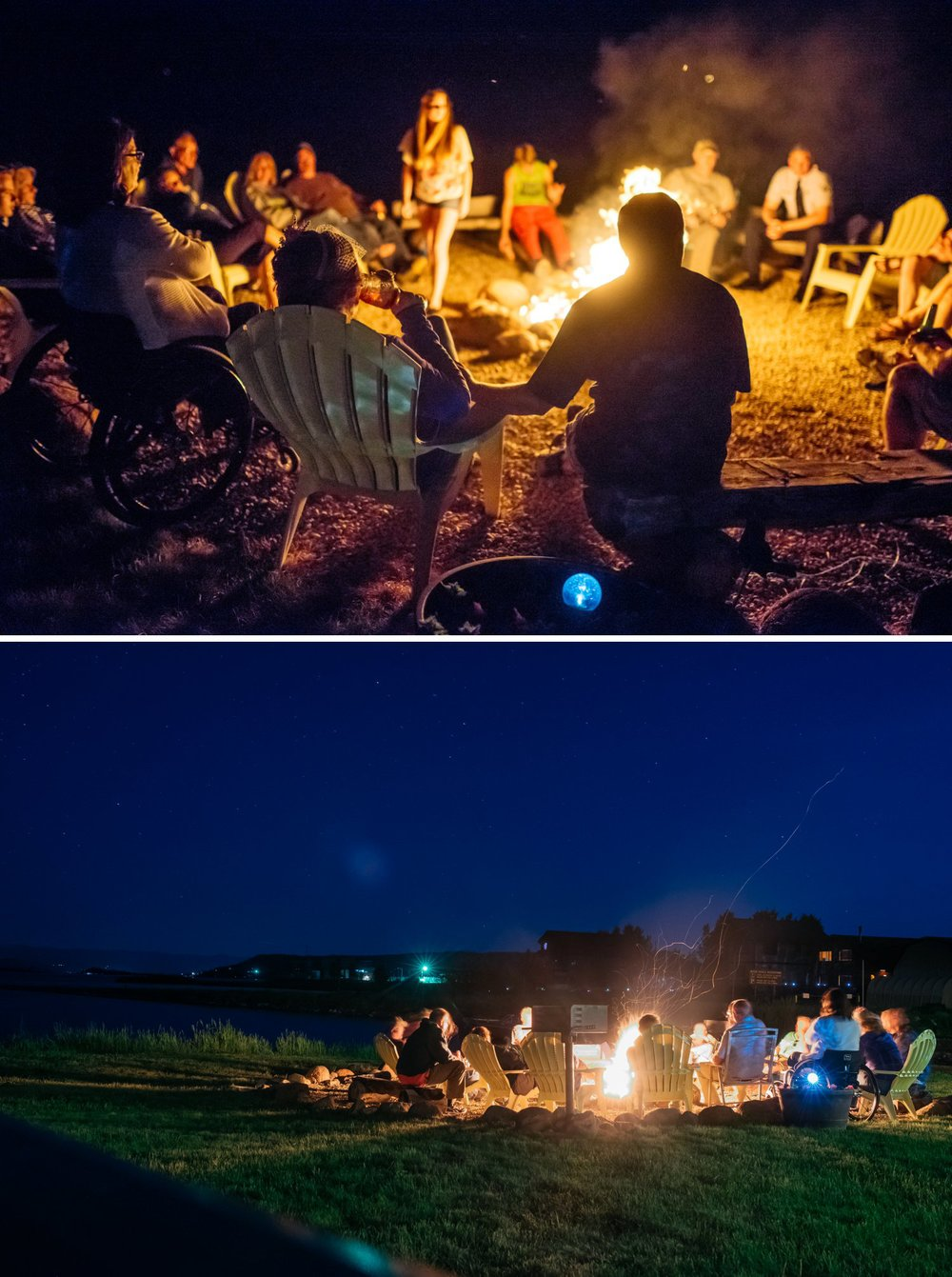 It would be so nice to finish the night off with the guests hanging out around a campfire. This is when intimate weddings are perfect! Photo by Maddie Mae Photography