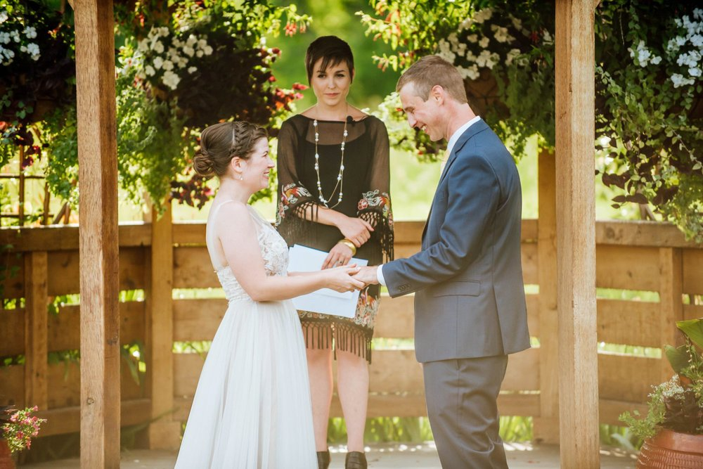 Summer weddings are the best! The Denver Botanic Gardens is such a magical place for a wedding. Photo by Maddie Mae Photography