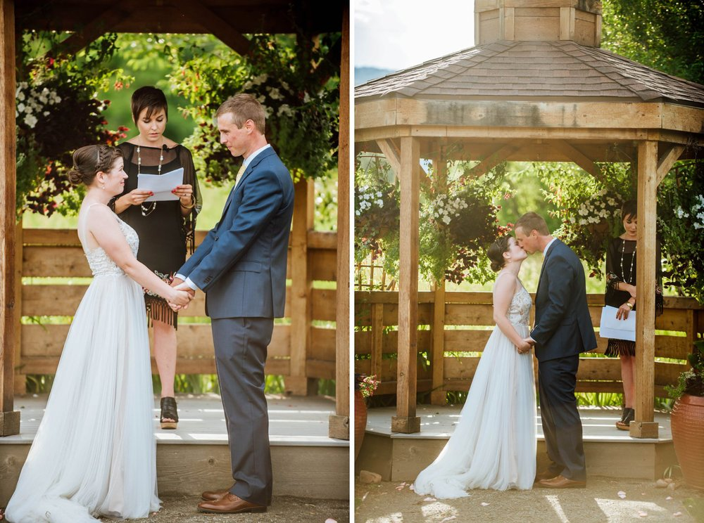 I love wedding ceremonies underneath gazebos, there is something so magical about summer weddings. Photo by Maddie Mae Photography
